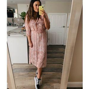 NWT Zara sheer embroidered tie dress